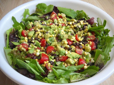Tomato, Corn, Black Bean and Avocado Salad