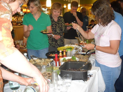 Guest Blogger, The Engine 2 Diet Graduation and Pot Luck