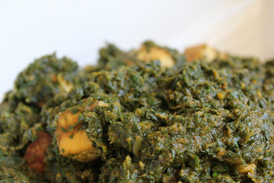 Vegan Indian Saag (Spinach) Tofu