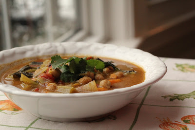 Coconut Curry Kale, Chick Pea and Sweet Potato Stoup