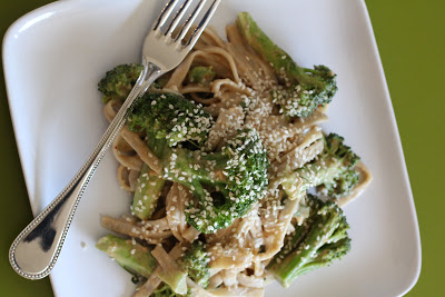 Unprocessed: Spicy Peanut Noodles with Broccoli