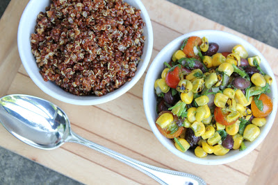 Red Quinoa Salad with Black Beans and Corn, Revisited