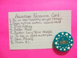 The Beck Diet Solution: Day 1, Make Your Advantages Response Card