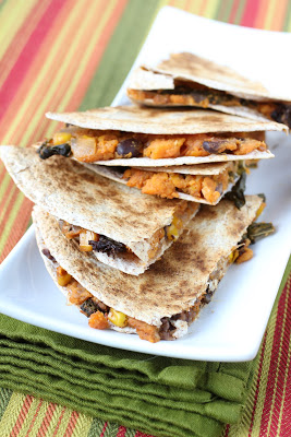 Winner Announced and Sweet Potato and Kale Quesadillas