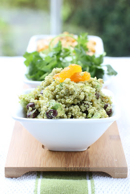 Tex Mex Quinoa with Cilantro, Lime and Apricots