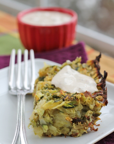 What Should Have Been Cilantro Jalapeno Zucchini Pancakes with Chipotle Sour Cream
