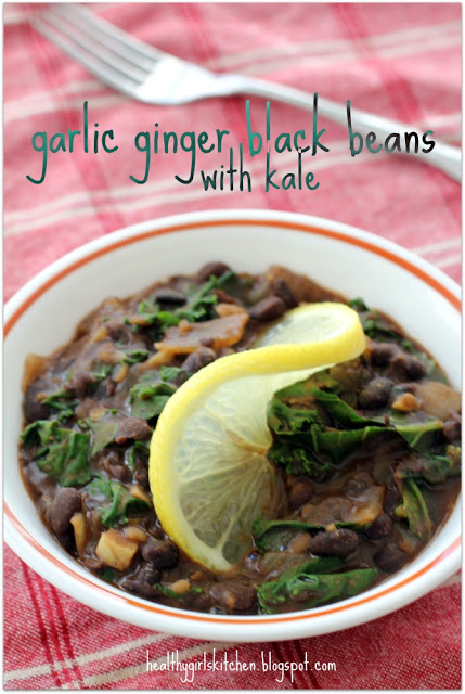 Cuban Black Beans with Kale