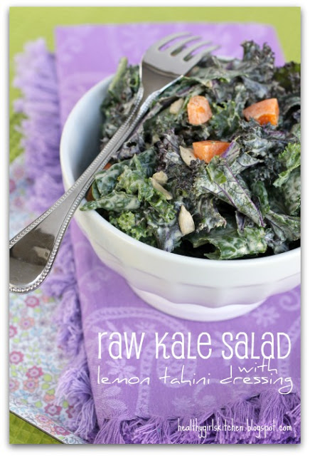 Massaged Kale Salad with Lemon Tahini Dressing and the Reader Advice Day: Juice Cleansing