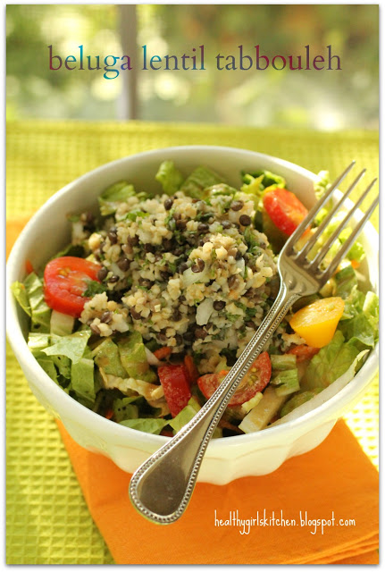Chef Aj's Quick-6 Fat Free Salad Dressing and Beluga Lentil Tabbouleh