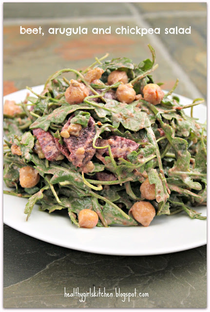 Dr. Fuhrman's Beet, Arugula and Chickpea Salad