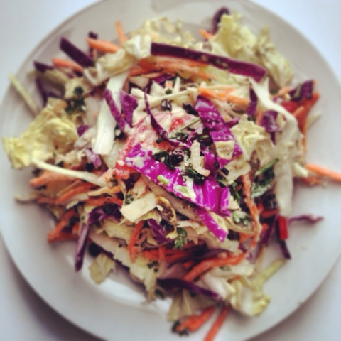 The Eat to Live Cookbook Project: Spiced Pumpkin Seed Cabbage Salad