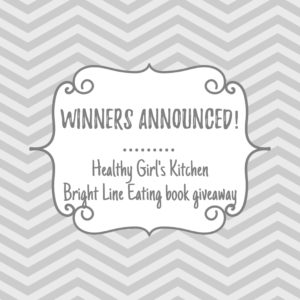 Bright Line Eating book giveaway winners announced
